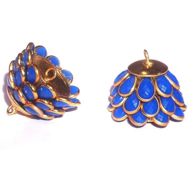 Pacchi Jhumka Opaque Blue 14x19 mm