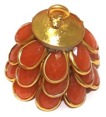 Pacchi Jhumka ORANGE 14x19 mm