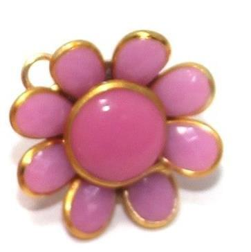 10 PAIRS PACCHI EARRING Pink14X14 MM
