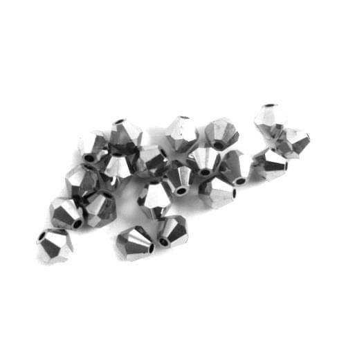 Top Quality Grey Crystal Bicone Beads