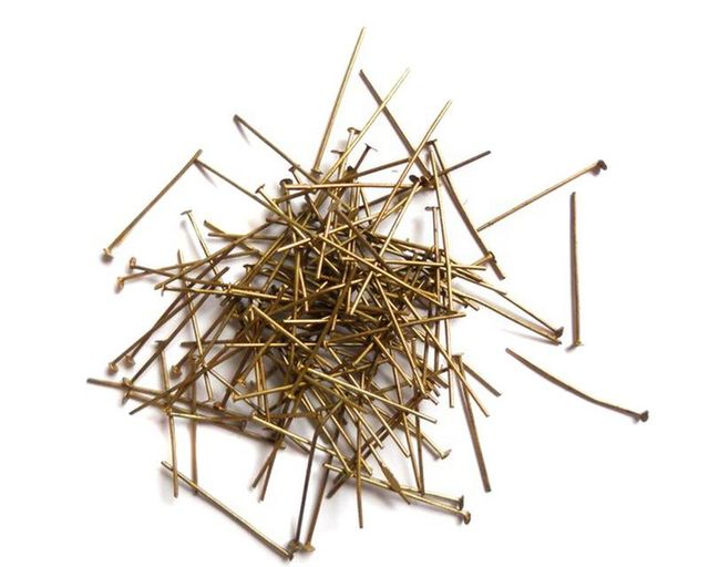 Antique bronze Headpins 28 mm 50 gm