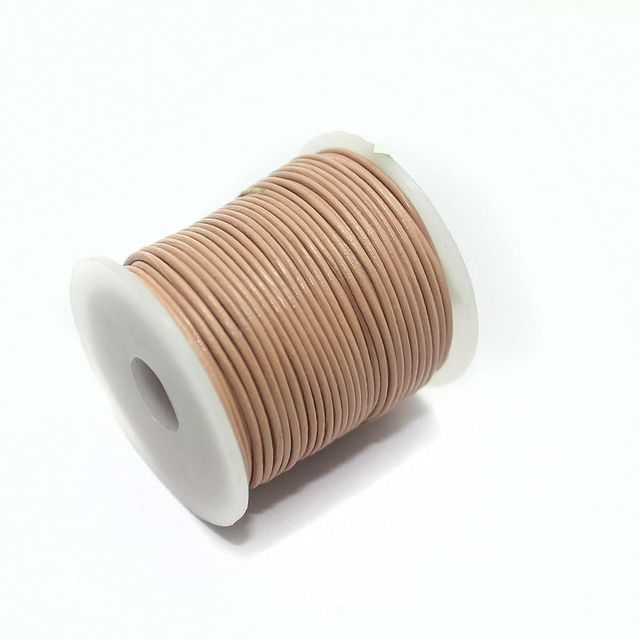 Jewellery Making Leather Cord 1mm Peach-25 Mtr