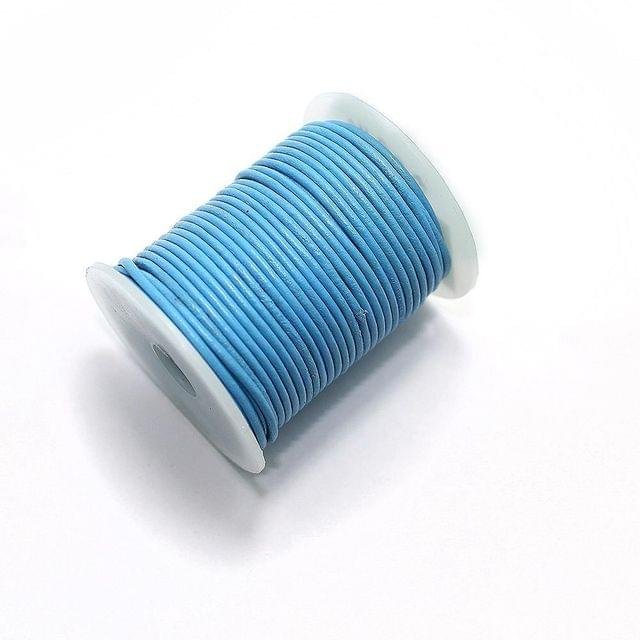 Jewellery Making Leather Cord 2mm Turquoise-25 Mtr