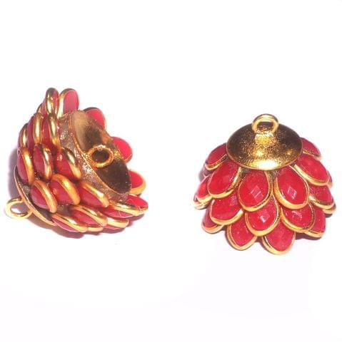 Pacchi Jhumka Base Red, Size 14x19 mm