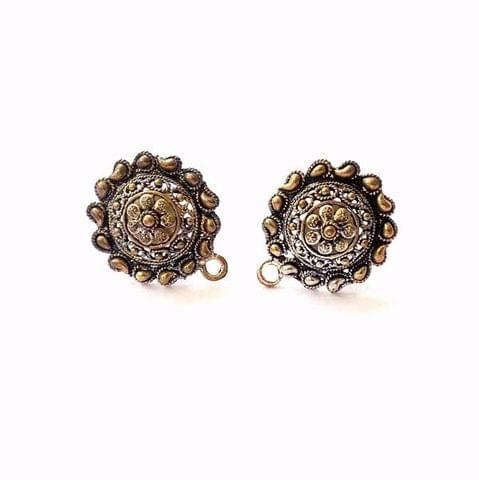 6 Pairs Paisley oxidized Earring Stud Earring Findings