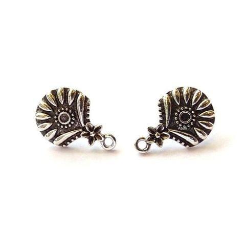 Oxidized Earring Stud Earring Findings