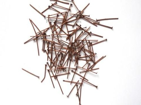 Copper Headpins Plated 18 mm 25 gm