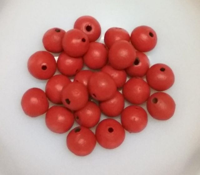 100 pcs Red Terracotta 10mm round beads