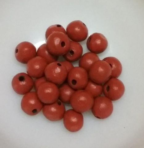 100 pcs Brown Terracotta 10mm round beads