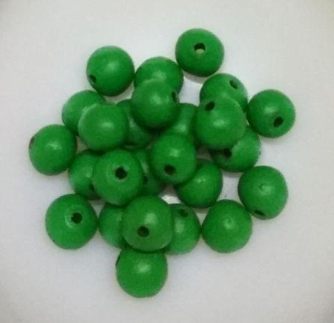 100 pcs Green Terracotta 10mm round beads