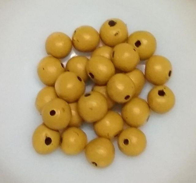 100 pcs Mustard Yellow Terracotta 10mm round beads