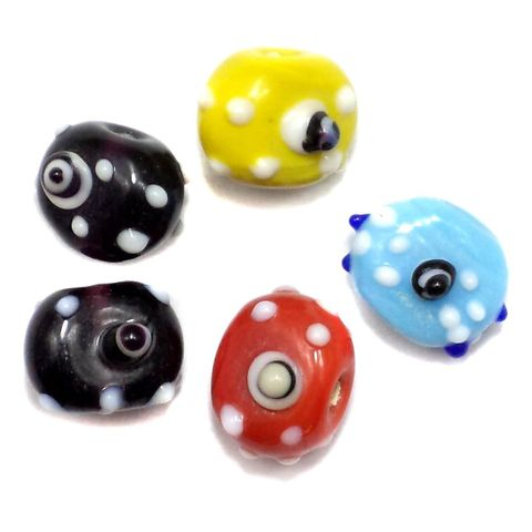 40+ Fancy Saucer Eye Beads Assorted 10mm
