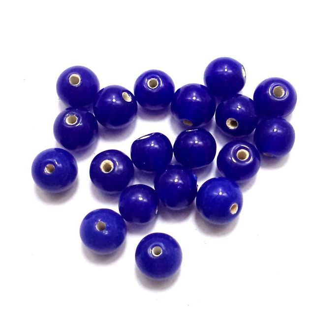 230+ Glass Round Beads Blue 5mm