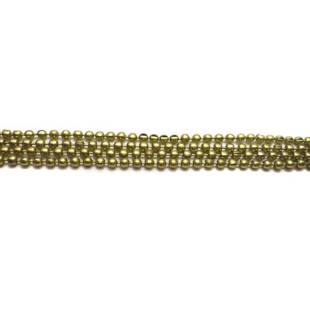 4 Metal Ball Chain Golden 2mm [1 Mtr Each]
