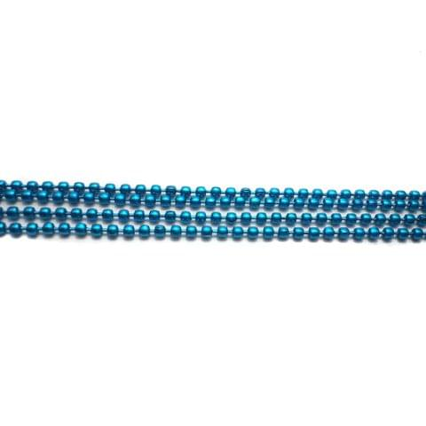 4 Metal Ball Chain Turquoise 2mm [1 Mtr Each]