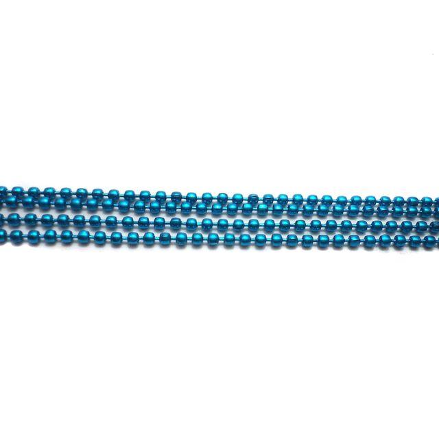 4 Metal Ball Chain Turquoise 2mm [1 Mtr Each]