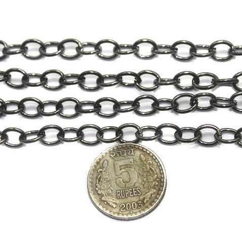 Metal Chain Black Finish 1 Mtr Packing