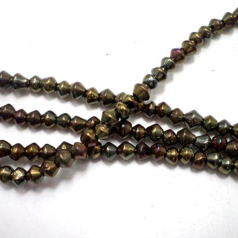 10 strings Glass Drop Beads Magenta 8x10mm