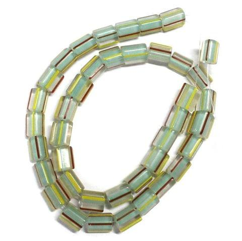 40 Glass Cane Beads Assorted 10x7mm