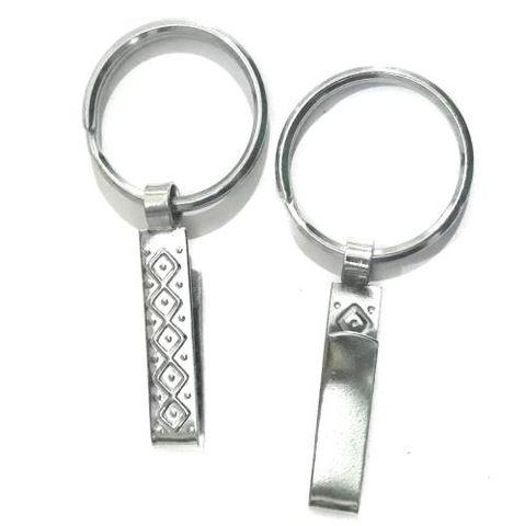 Key Ring With Saari Hook 10 Pcs