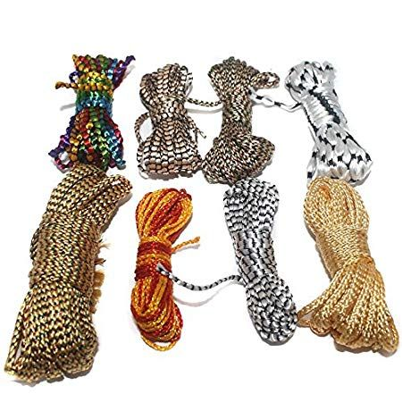 Soutache Cord For Jewellery Making & Craft Work, 8 Colors Combo