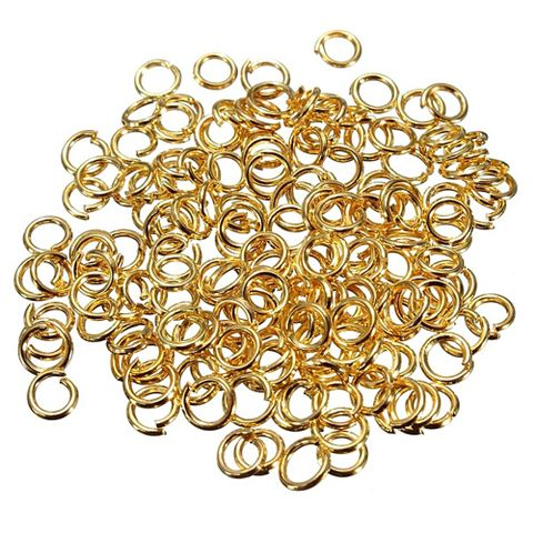 Golden Open Jump Rings jewelry Findings_125Pcs