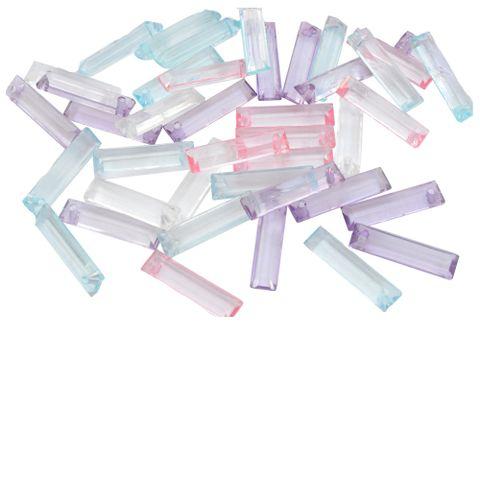 Elongated Multicolored  Crystal Danglers/ Beads_30Pcs