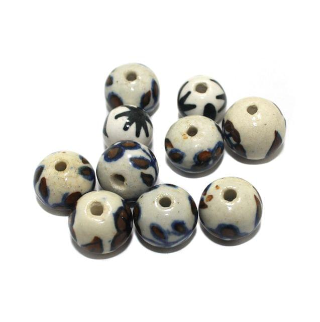 25 Pcs Ceramic Beads Assorted 17x19 mm