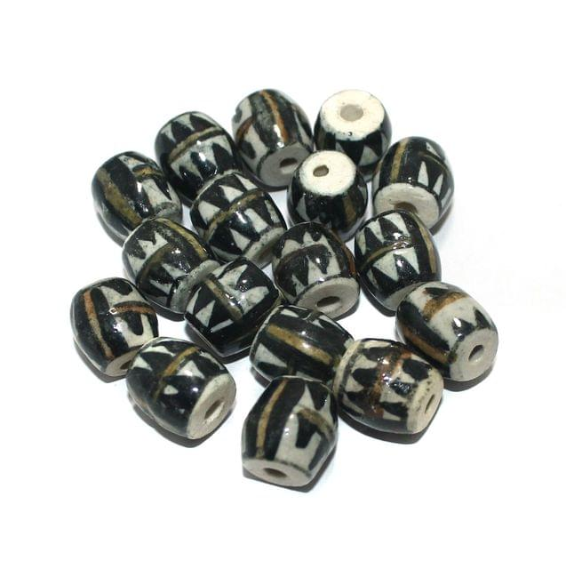 50 Pcs Ceramic Beads Assorted 13x13 mm