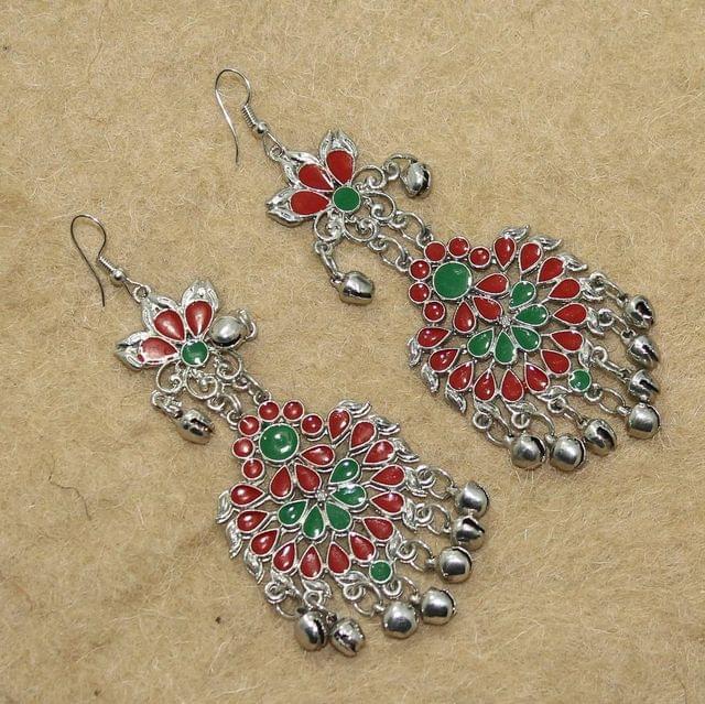 Multicolored Afghani Earrings
