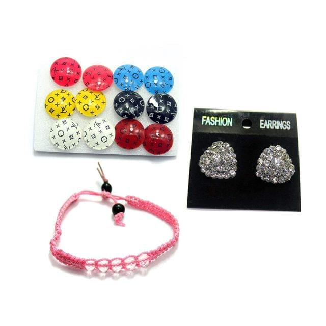 Beadsnfashion Nacklace, Earring & Bracelet Combo Set