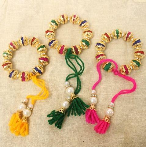 Beaded Multicolor Rakhi Combo