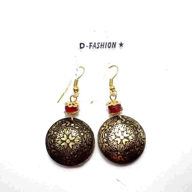 Fashion Acrylic Earring For Girls Gold