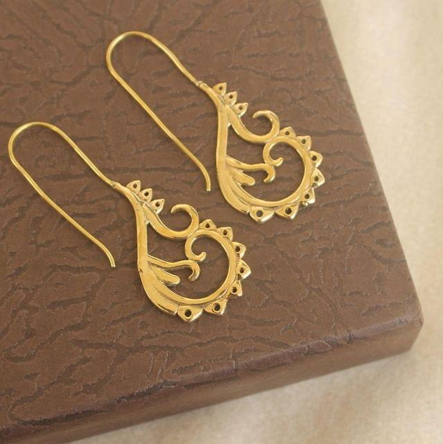 Brass Earring Golden For Girls