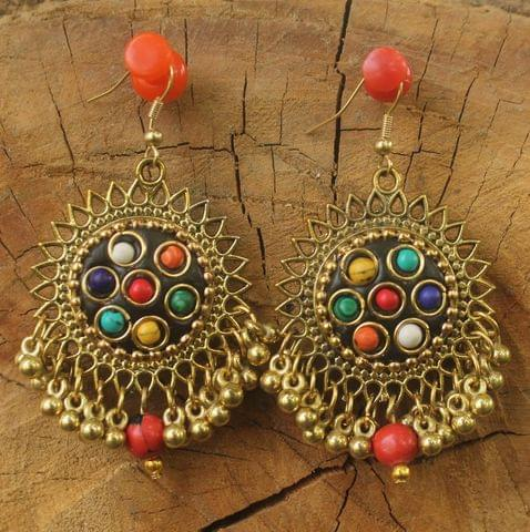Metal Trendy Earring Golden