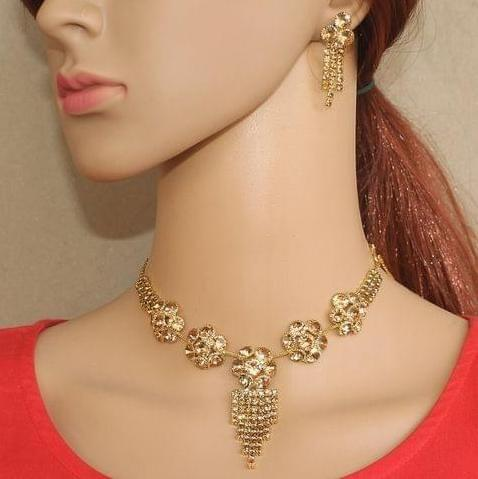 AD Stone Necklace For Girls