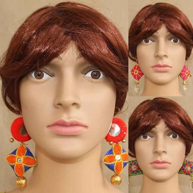 Multicolor Designer Earrings Combo