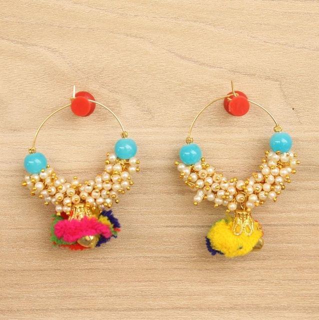 Designer Loreal Pearl Beaded Earrings