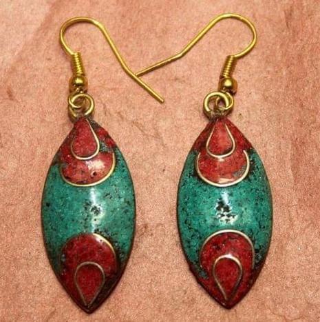 Tibetan Earring Multi Color