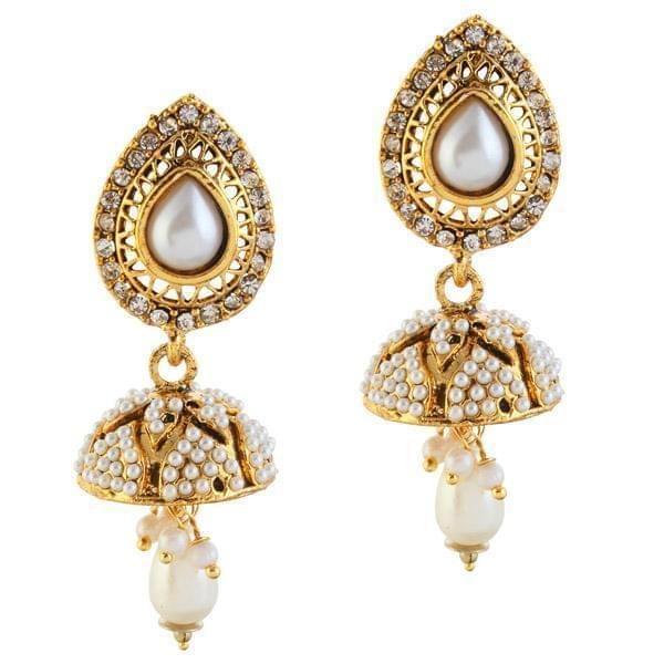 Austrian Stone Antique Jhumki Earrings