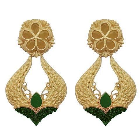 Green Pota Stone Dangler Earrings