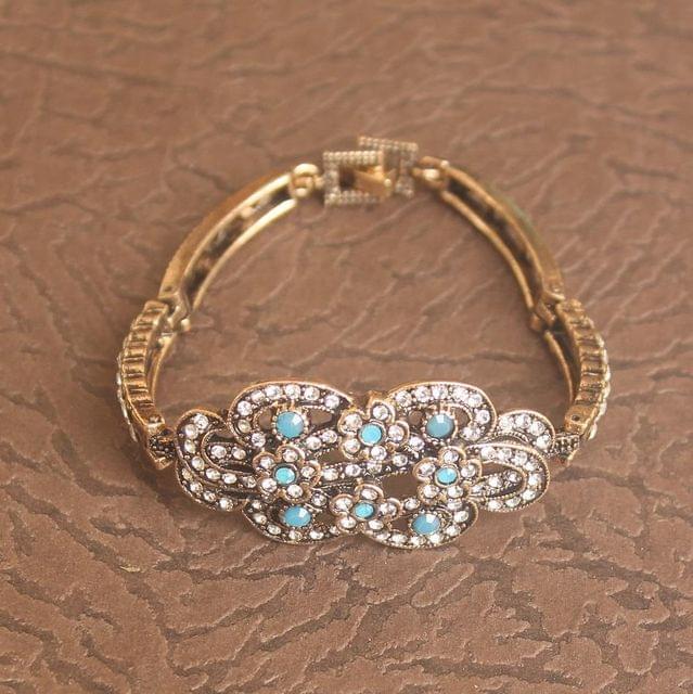 German Silver Stone Bracelet Turquoise