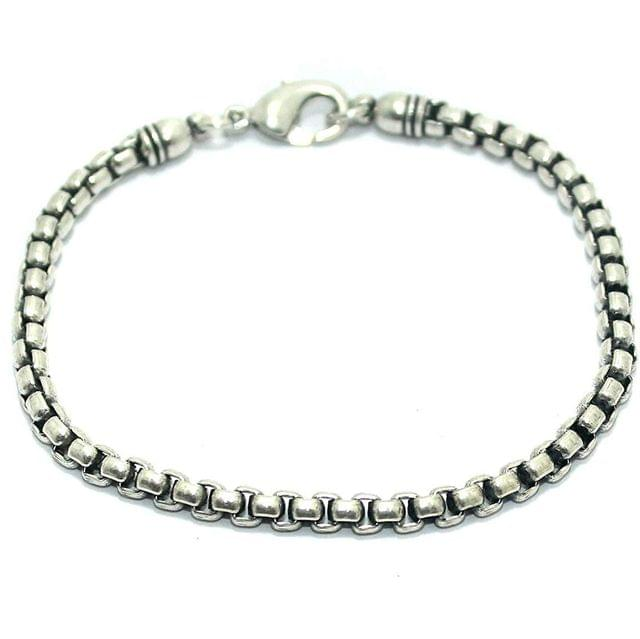 German Silver Bracelet/Wrist Band For Men/ Boys, Size 7.75 Inch