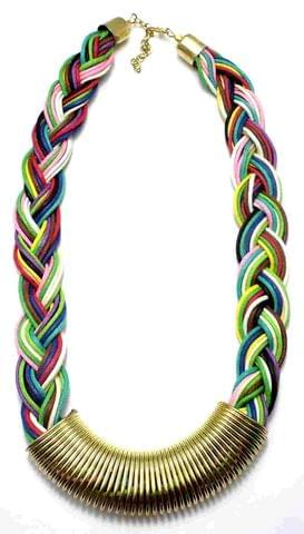 Cotton Cord Necklace For Girls Multicolor