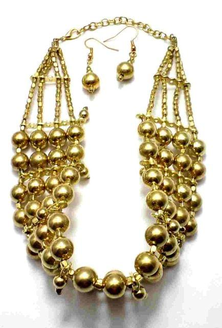 Fashion Necklace Set For Girls Golden