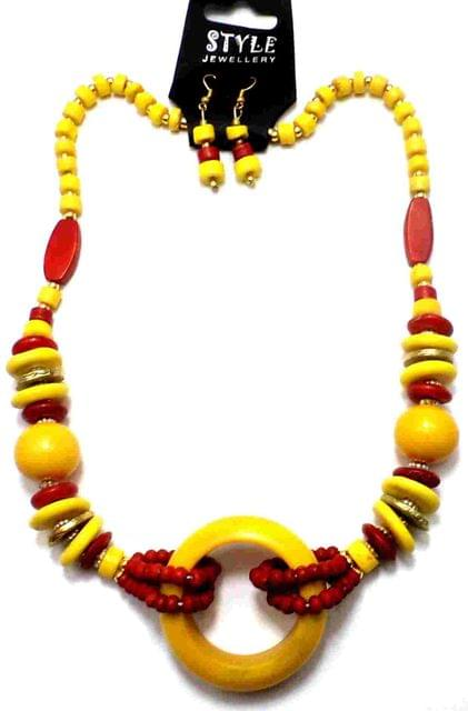Fashion Necklace For Girls Yellow and Red