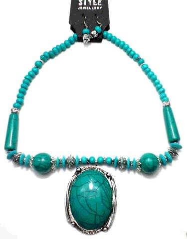 Beaded Necklace For GirlsTurquoise
