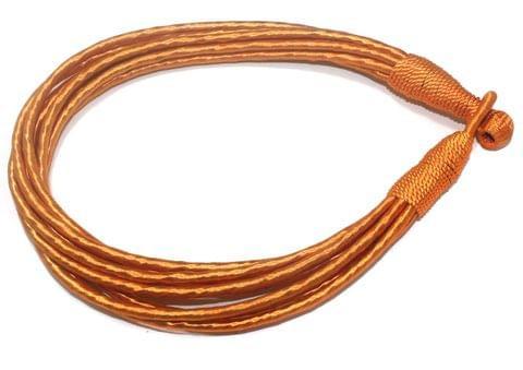 Silk Thread Necklace For Girls Orange 21 Inch