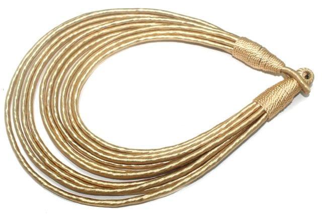 Silk Thread Necklace For Girls Cream 26 Inch
