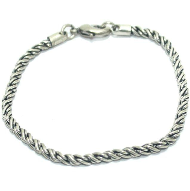 German Silver BraceletWrist Band For Men/ Boys, Size 8 Inch